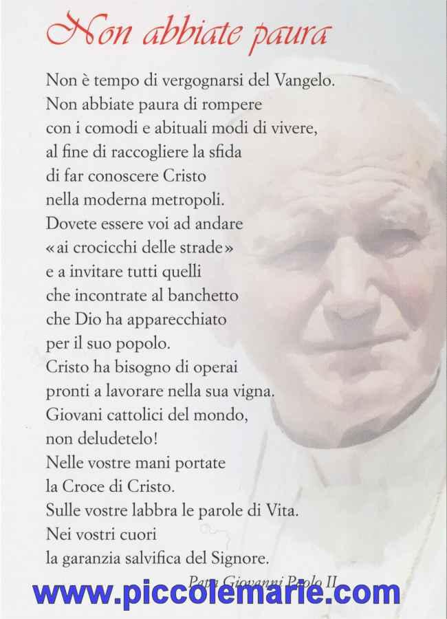 Frasi Matrimonio Giovanni Paolo Ii.San Giovanni Paolo Ii Con Preghiera Non Abbiate Paura Cm 10